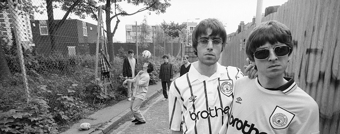 Oasis Noel Liam Gallagher Manchester City shirts