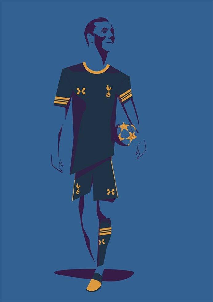 Marcus Marritt Spurs away shirt sketch