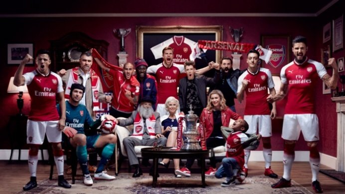 Arsenal players and fans launching 2017 home shirt