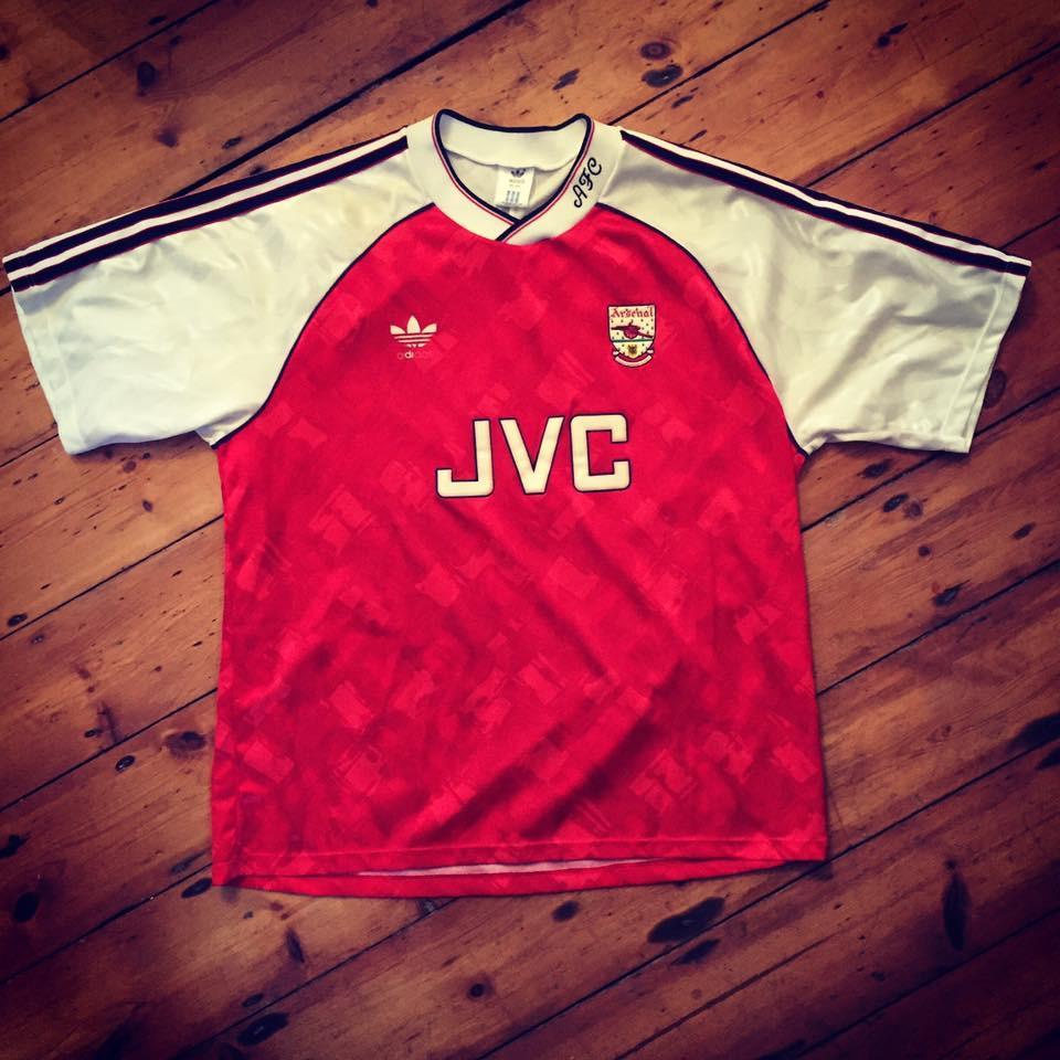 1990-92 Arsenal adidas home shirt
