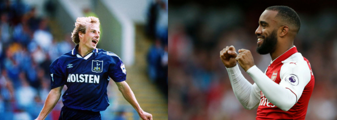 Klinsmann Tottenham Hotspur Lacazette Arsenal
