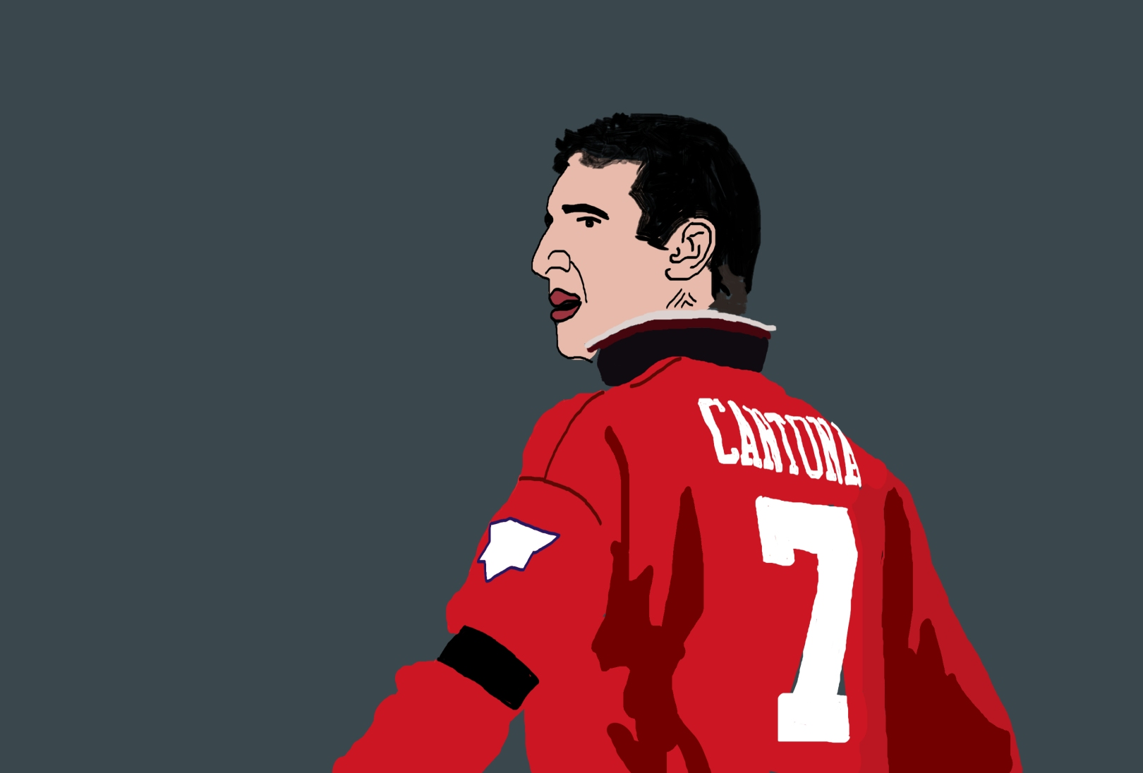 Eric Cantona Manchester United illustration