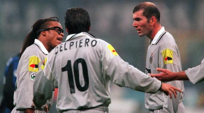 Edgar Davids, Del Piero, Zidane Juventus