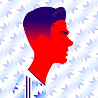 David Beckham illustration